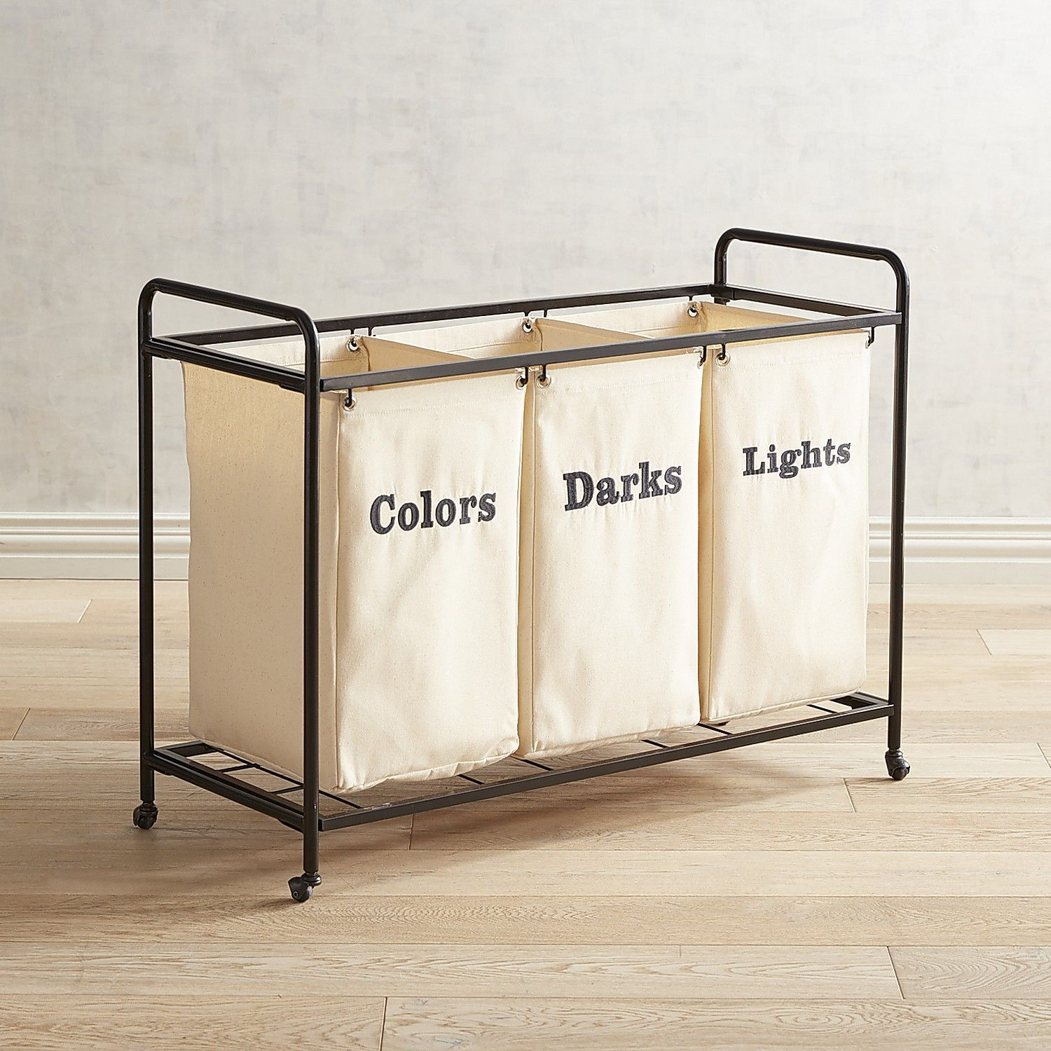 Make Laundry Day Easy Our Mobile Cart Offers Three Woven Cotton
