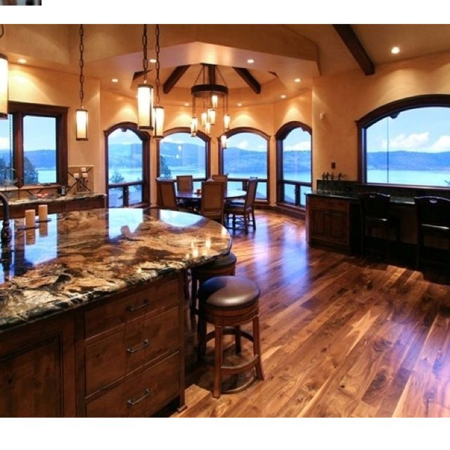 This kitchen!! I love all the windows