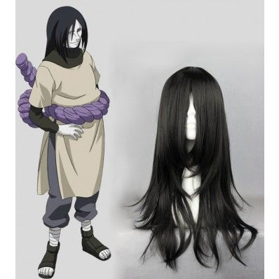 Source Naruto Character Orochimaru Color Black Length 55cm Hair Type Heat Resistant Fiber Cosplay Wigs Naruto Cosplay Costumes Anime Wigs