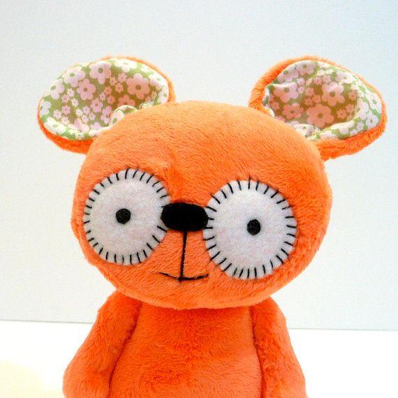 Pumpkin the orange monster by MonstersEtc on Etsy, $38.00