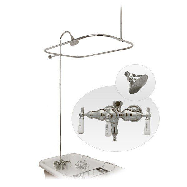 tub to shower faucet conversion kit. Clawfoot Tub Shower Enclosure with Faucet and Metal Showerhead  Randolph Morris Buying an older home a clawfoot tub no shower