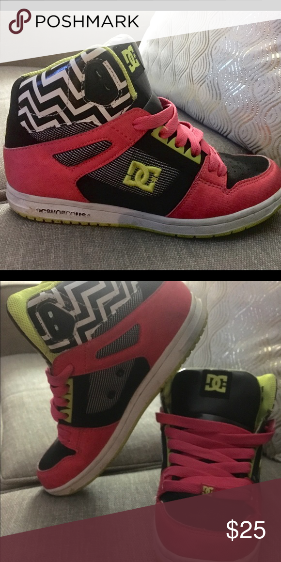 DC Sneakers DC brand skater shoes. Great bright colors:) size 7 DC Shoes Sneakers