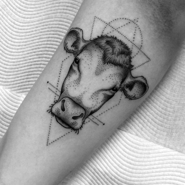 50 Cow Tattoo Designs For Men - Cattle Ink Ideas