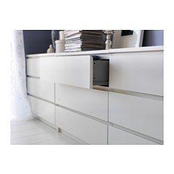 MALM Kommode mit 3 Schubladen, weiß | Malm, Ikea malm and Drawers