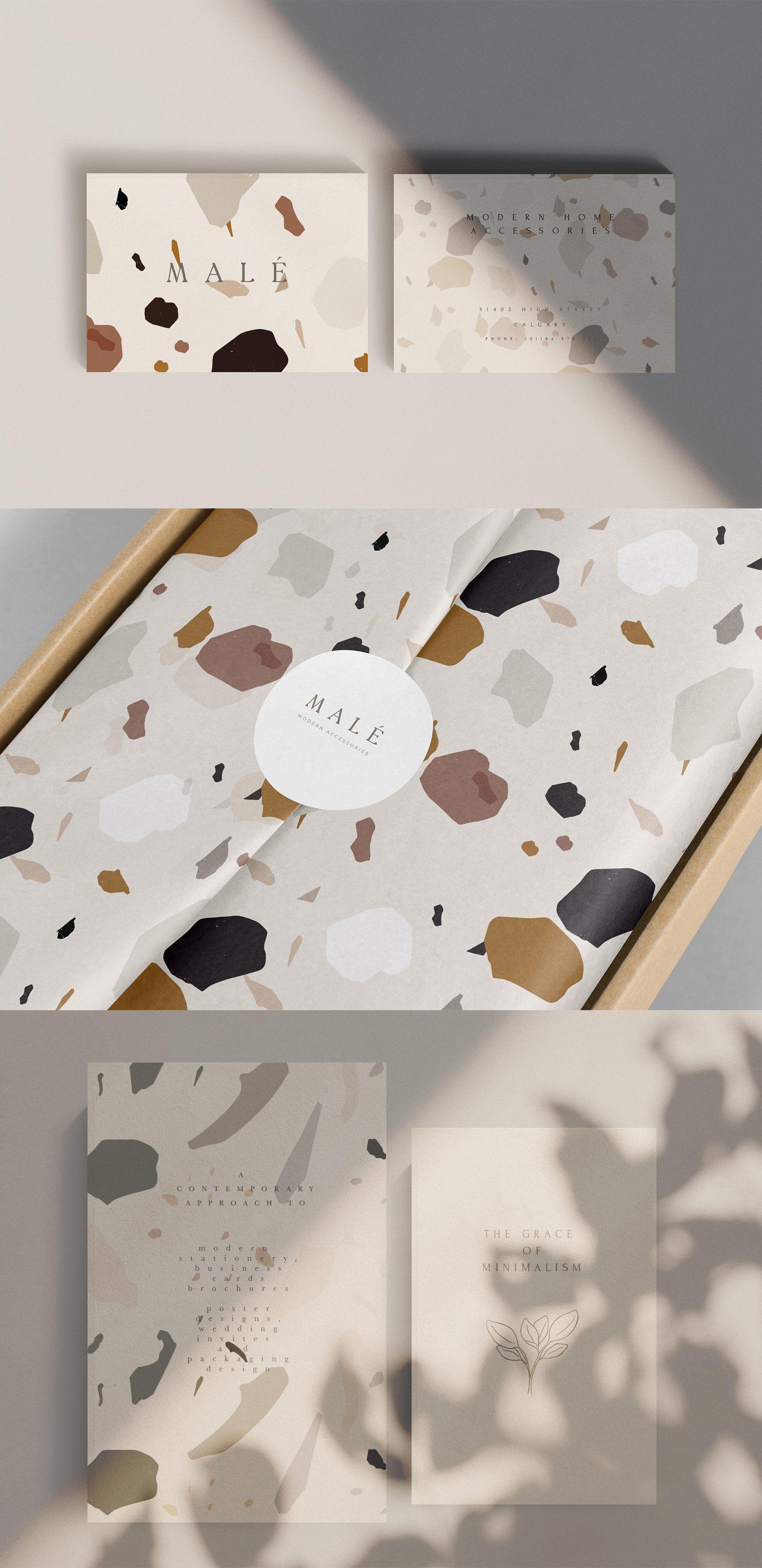Abstract Modern Terrazzo Pattern by Laras Wonderland on Creative Market