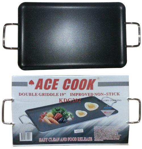 Ace Cook 92593 Double Burner Non Stick Griddle Double Burner Griddles Cooking