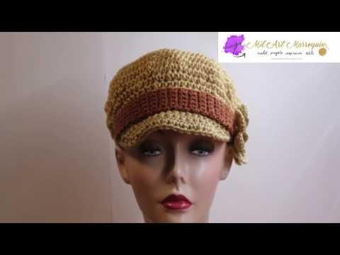 33cc5f2f04369 Boné em Crochê Feminino Mimoso Adulto. - YouTube