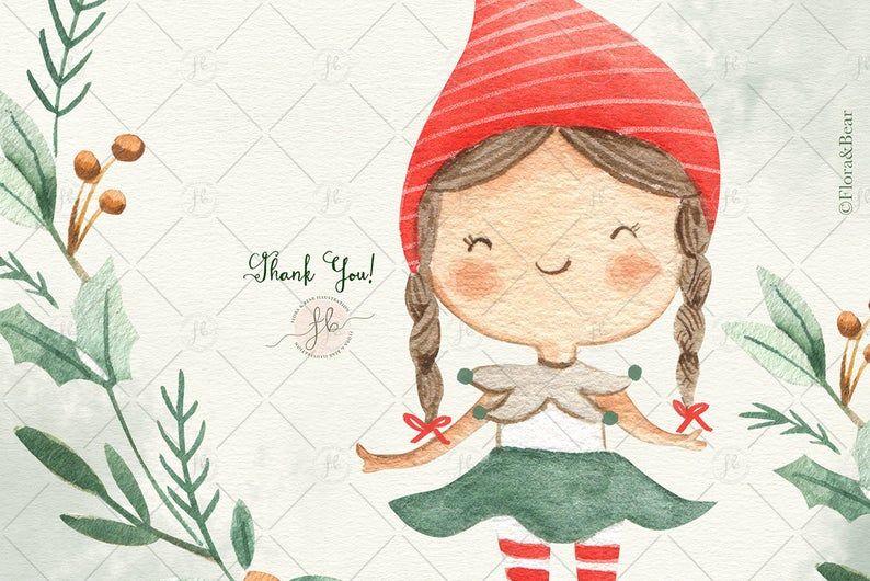 Winter Holiday Watercolor Clip Art | Holiday illustrations, Clip art, Watercolor  clipart