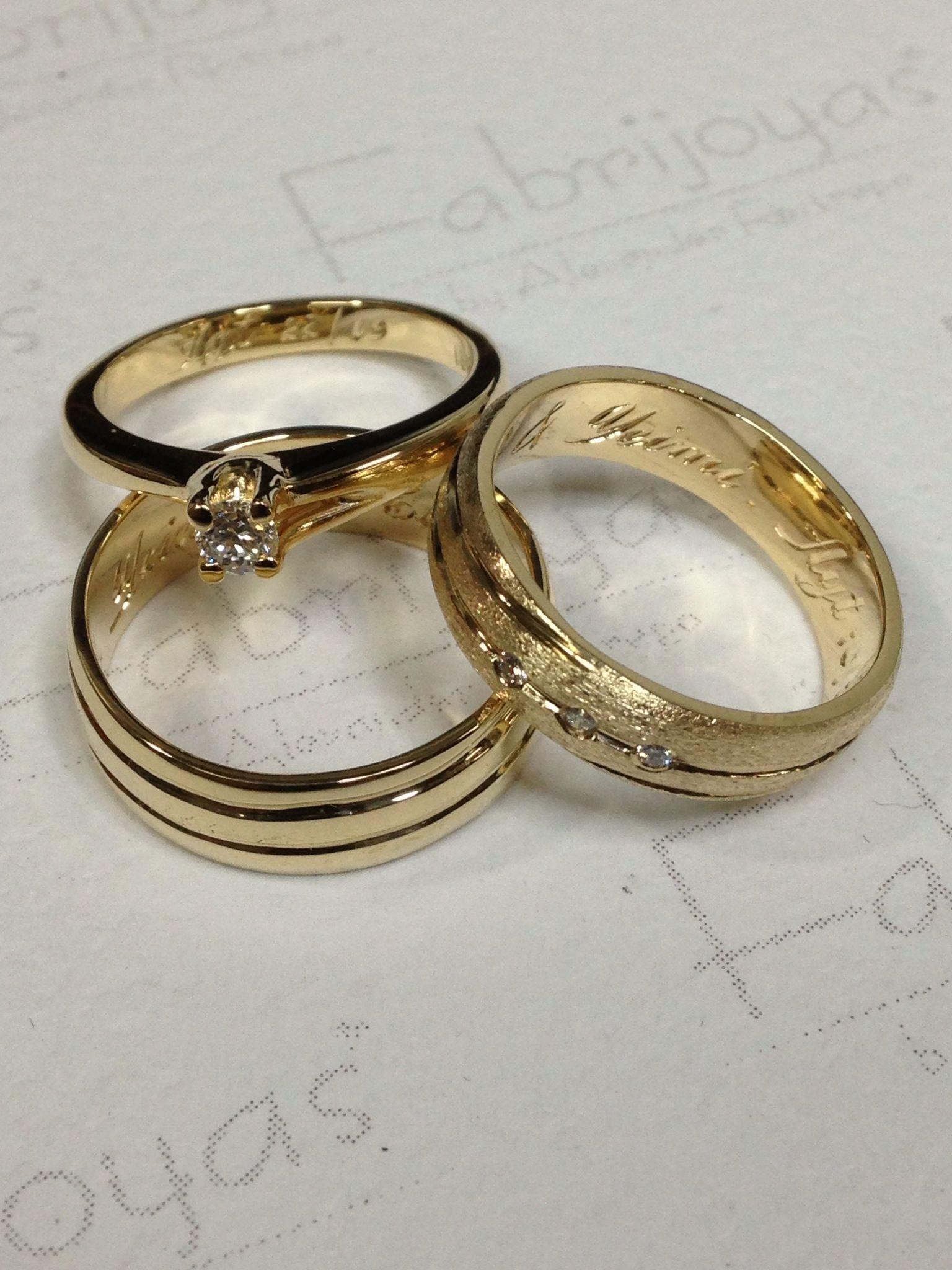 78395b7eece2 Juego de argollas y anillo con diamante oro amarillo 18k. ( Fabrijoyas)