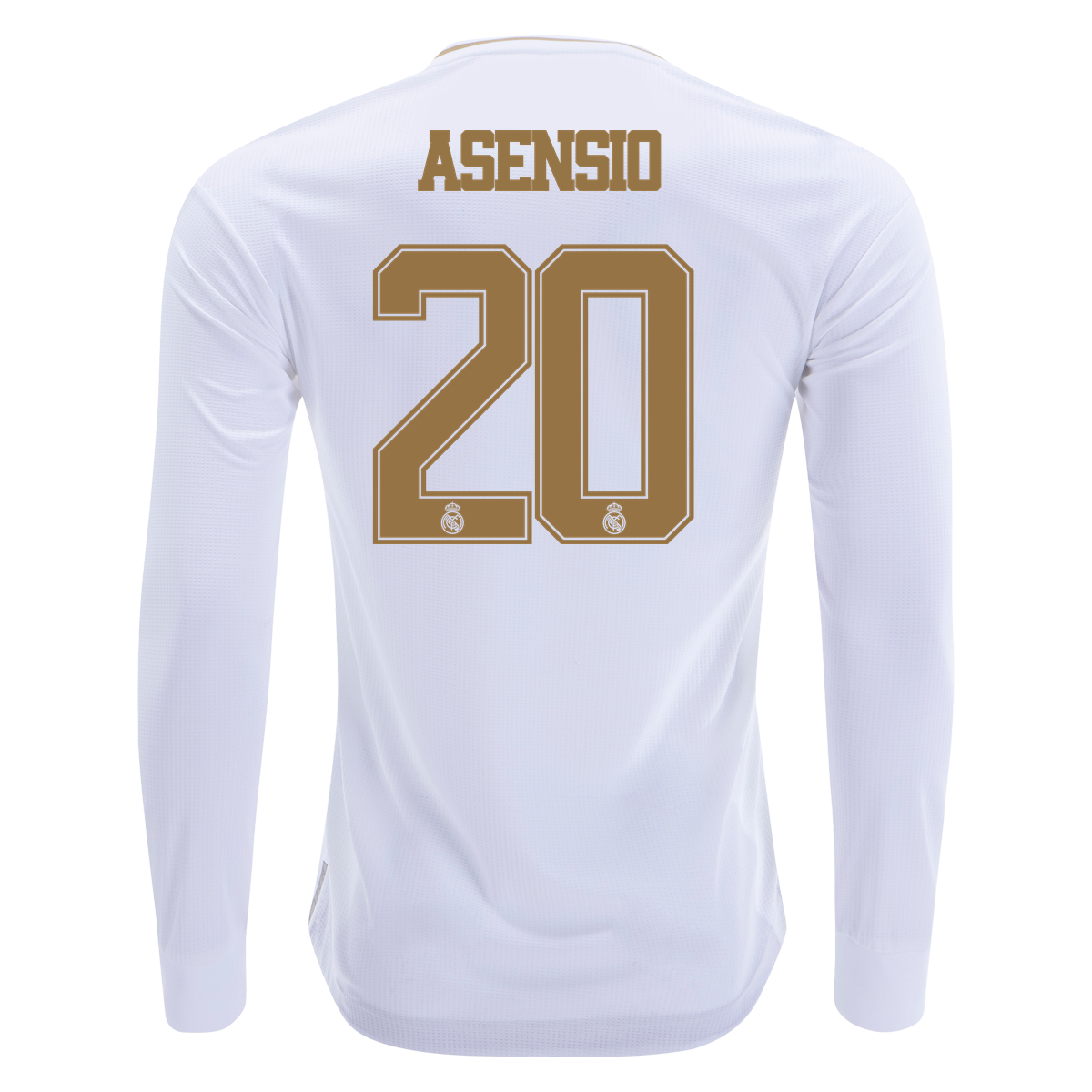 Adidas Marco Asensio Real Madrid Long Sleeve Authentic Home Jersey 19 20 2xl Real Madrid Asensio Jersey