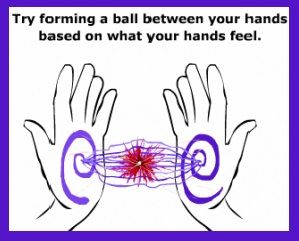 hand chakras' energy exercise