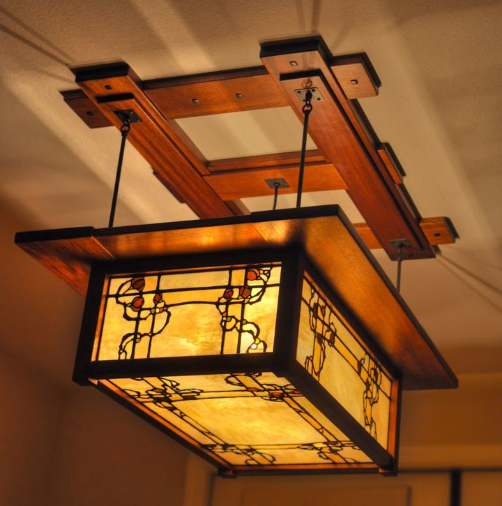 Well Well If That Is Not Greene Greene What A Gorgeous Piece Craftsman Lighting Craftsman Furniture Leaded Glass