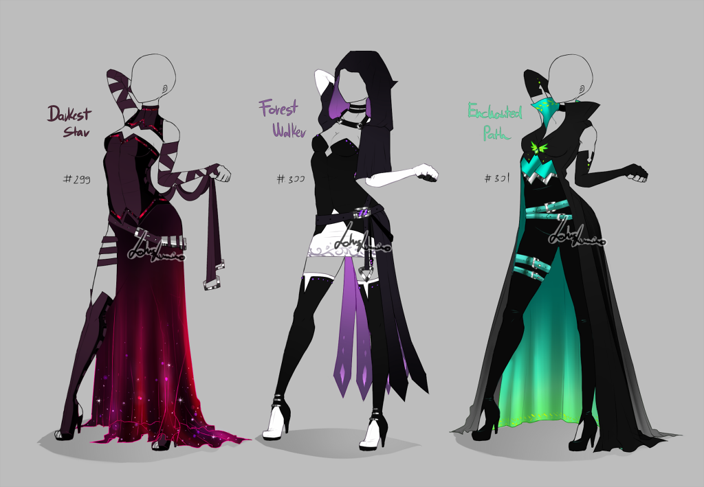 Character Costume Design Tips : Outfit design open by lotuslumino anime