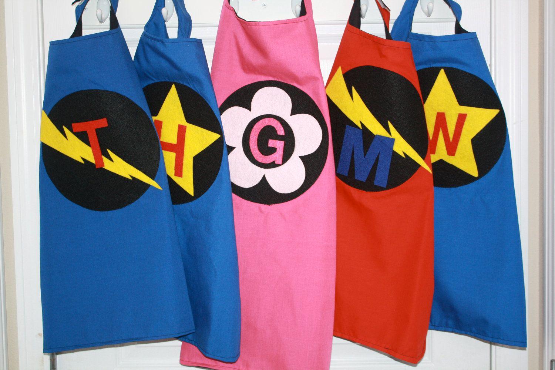 Custom, personalized children's kid's superhero capes