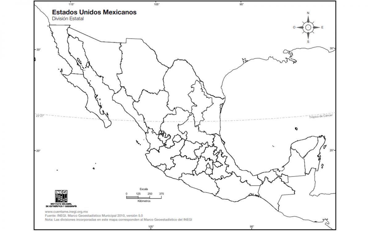 Mapa De Mexico Con Nombres Republica Mexicana Y Division Politica Mexico Desconocido Mapa De Mexico Division Politica Mapa Mexico Con Nombres