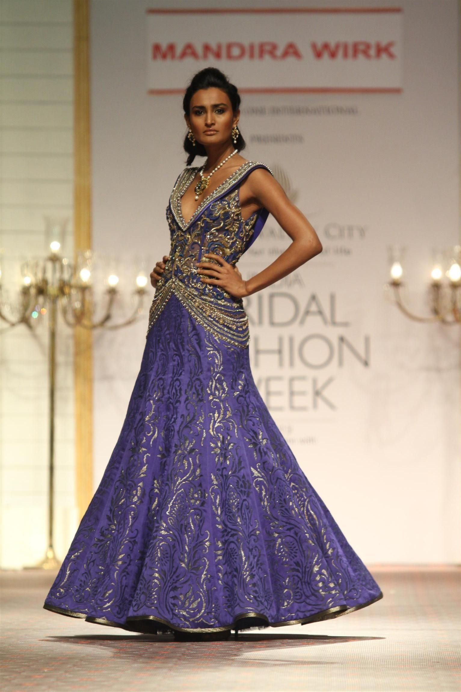 Gorgeous purple and gold wedding gown from Mandira Wirk at Aamby ...