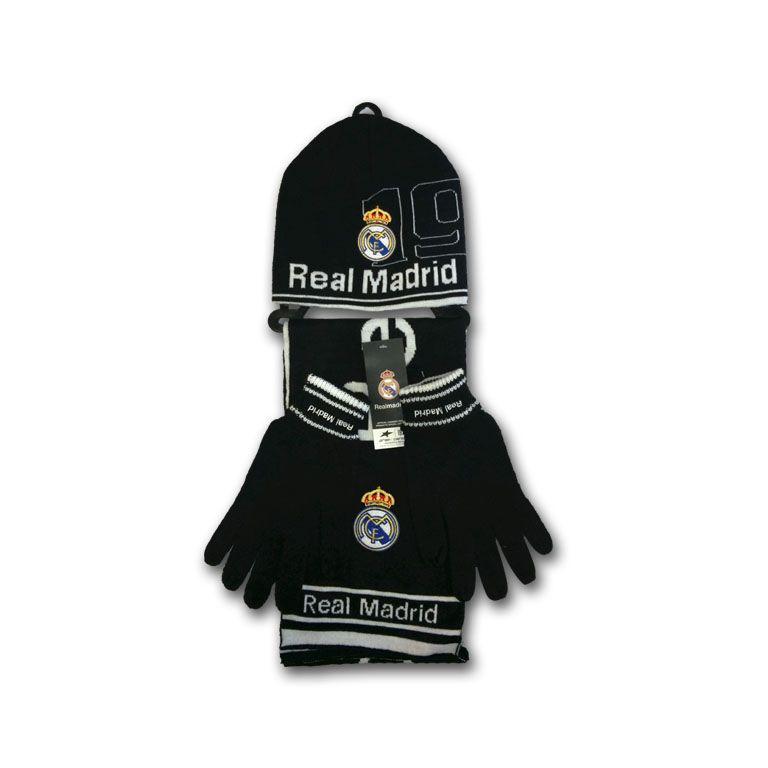 SET GORRO + GUANTES + BUFANDA REAL MADRID NEGRO Este artículo lo encontrará  en nuestra tienda on line de complementos www.worldmagic.es info worldmagic. es ... e94874c6da100