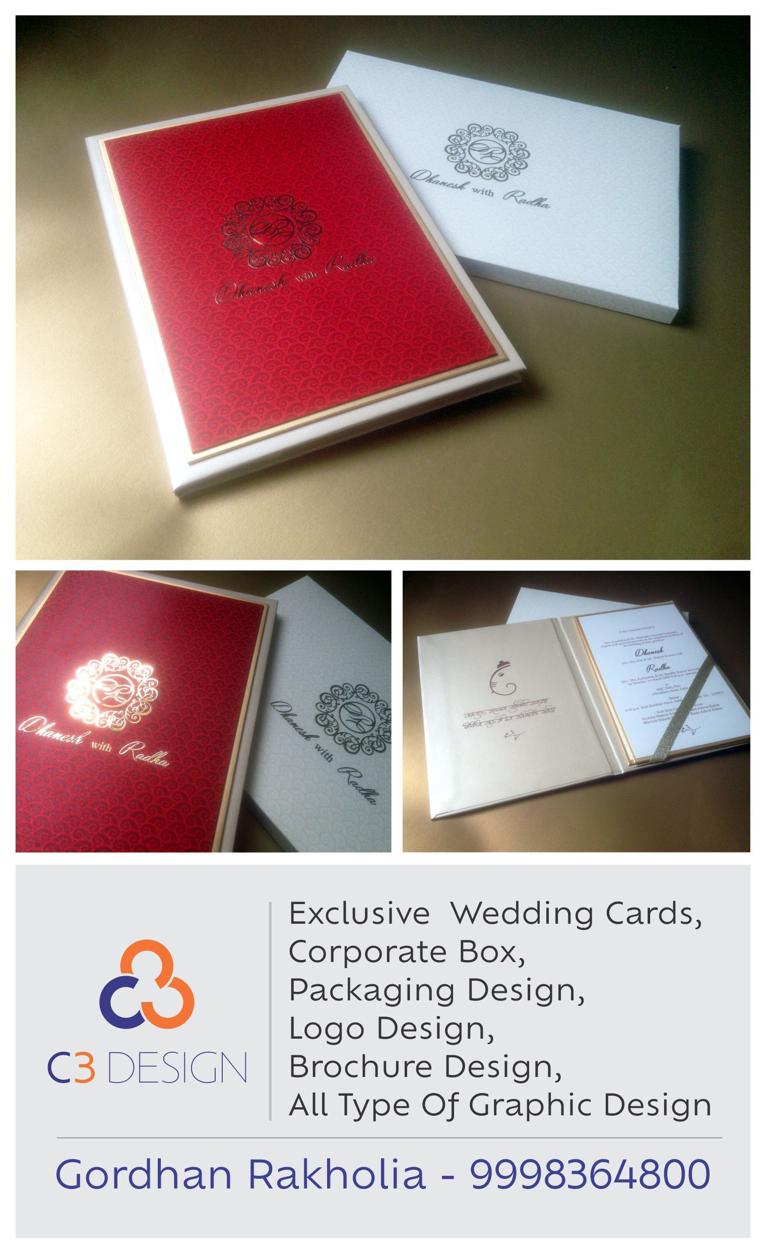 Pin by Logo Design on Wedding Cards | Pinterest | Wedding card and ...