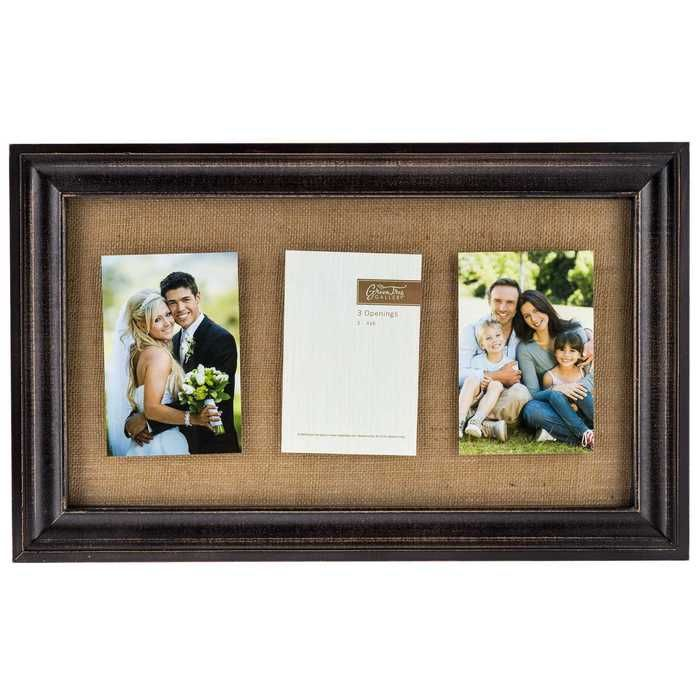 Black & Burlap 3-Opening Floating Collage Frame | Thinking Outloud ...