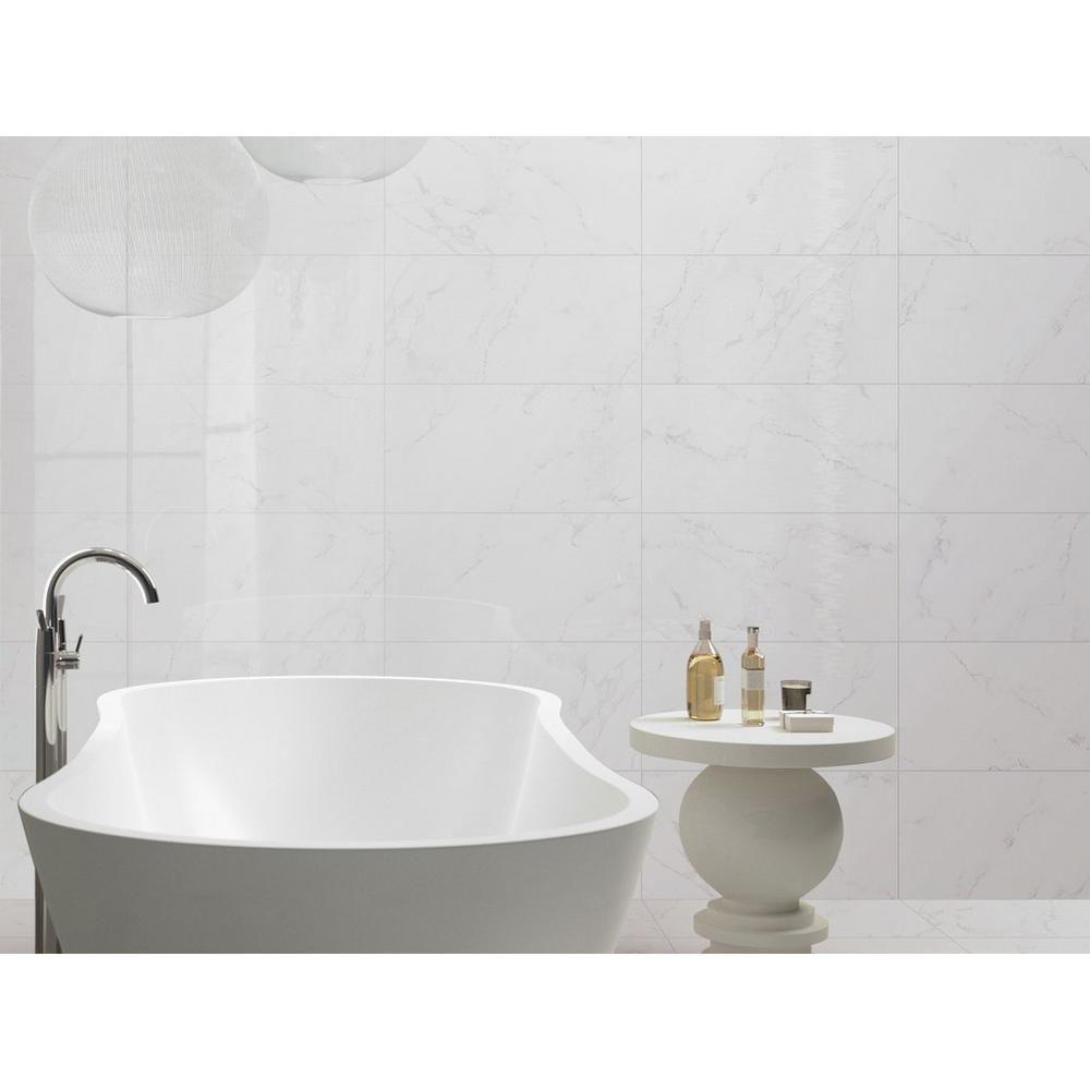 Does Floor And Decor Do Financing: Carrara Polished Porcelain Tile
