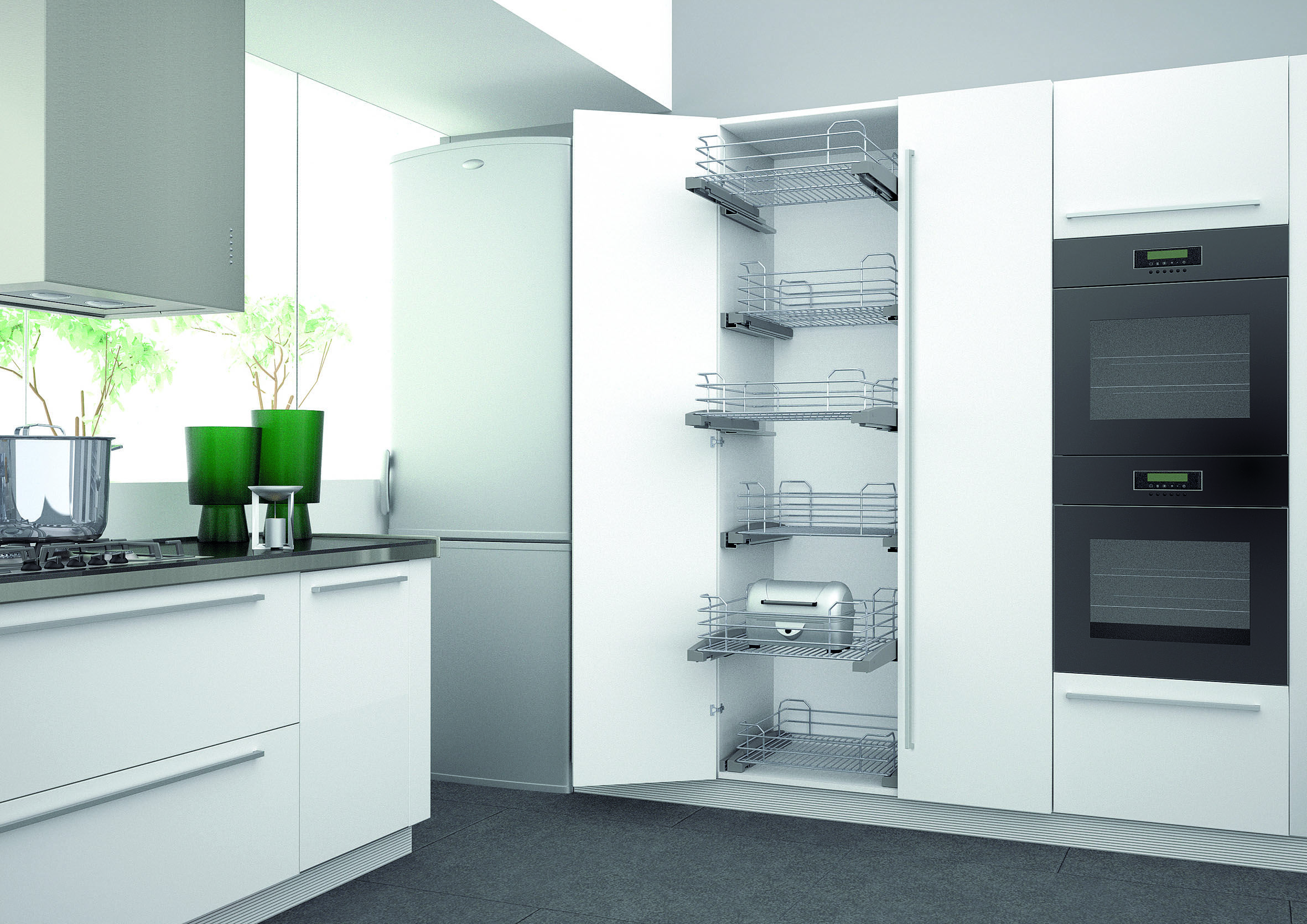 Designed using our Larder units with wire racks, for the perfect ...