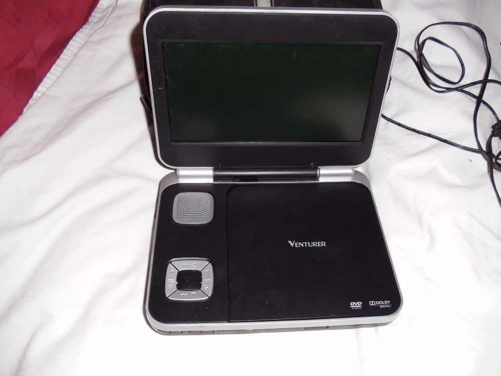 Venturer Portable DVD Player PVS8380 w/ Case, charge cord (not origional) #Venturer