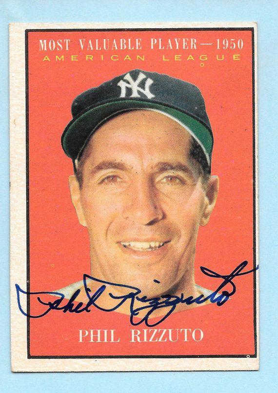 Ny Yankees Phil Rizzuto 1961 Topps Baseball Card 471 1950 Mvp Etsy Baseball Cards Phil Rizzuto Baseball Card Values