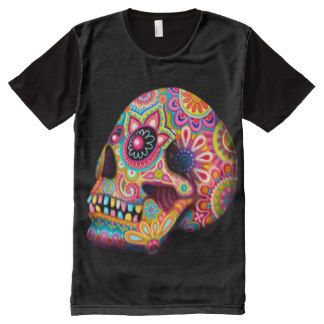 Sugar Skull Shirt - Day of the Dead T-Shirt All-Over Print T-shirt