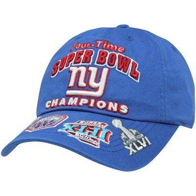 47 Brand New York Giants 4x Super Bowl Champs Commemorative