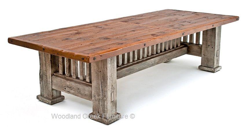 Reclaimed Barnwood Dining Table Mission Style Dining Rustieke Tafel Tafels En Meubels