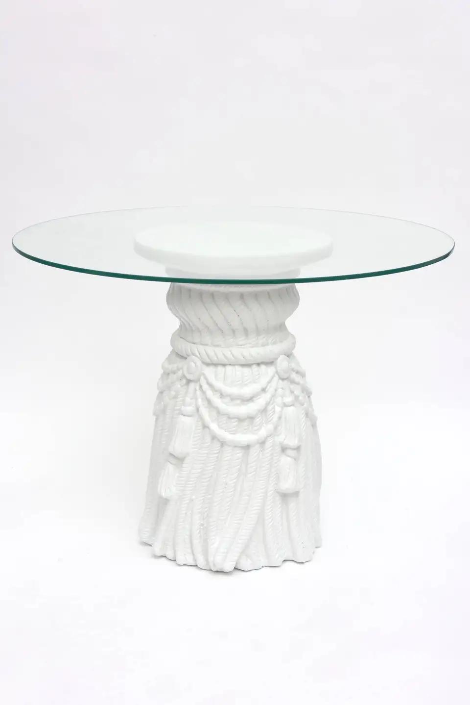 Plaster Of Paris White Draped Sculptural Side Tables John Dickinson Style Side Table Sculpture Plaster Of Paris [ 1438 x 960 Pixel ]