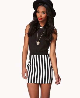 b6d7a2a202d0 Vertical Striped Pencil Skirt | FOREVER 21 - 2051702518 | My Style ...