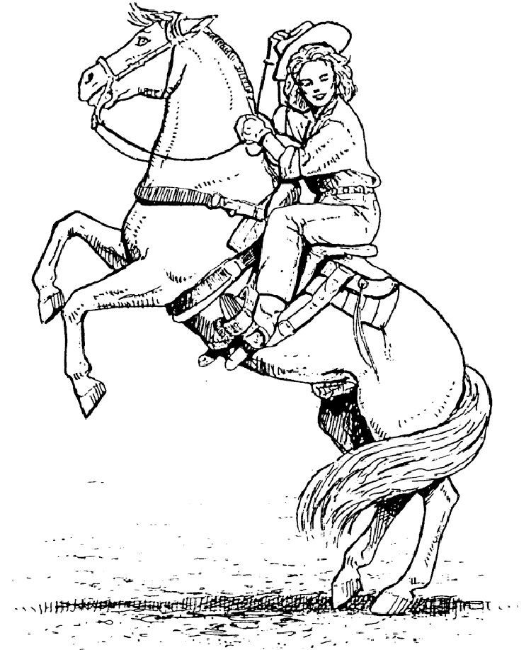 Western Horse Coloring Pages Download Or Print The Image Below