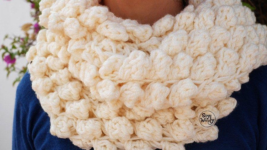 Cuello Infinito tejido en Punto Bodoques TRICOT | Pinterest ...