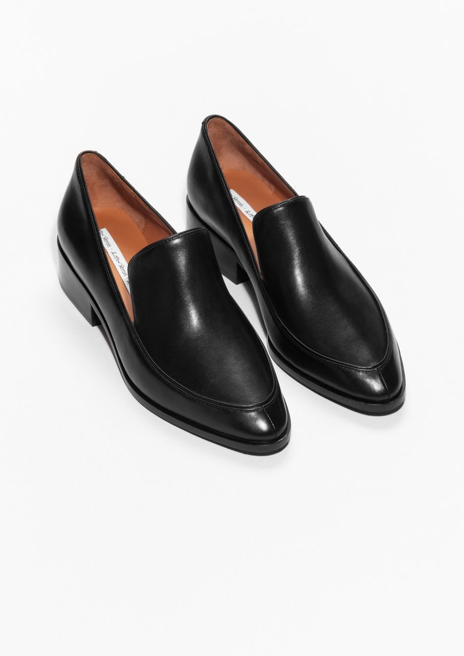 Leather Loafers | Black