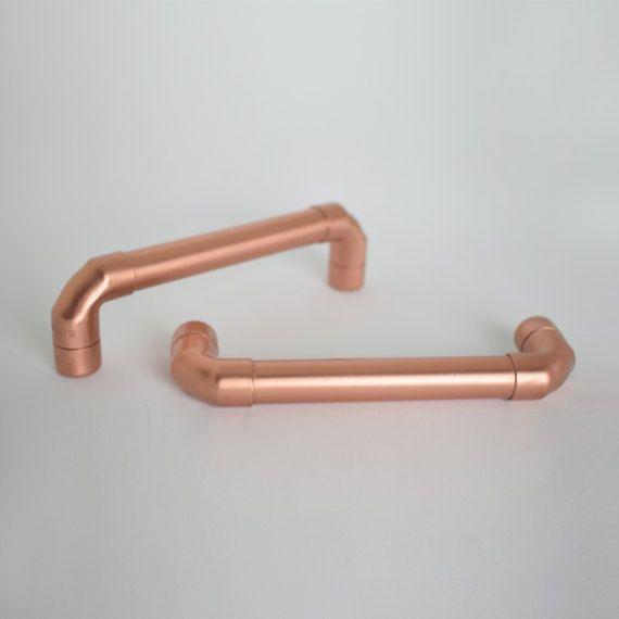 Modern Proper Copper Pull Contemporary Copper Drawer Handle Etsy Drawer Handles Door Handles Kitchen Door Handles