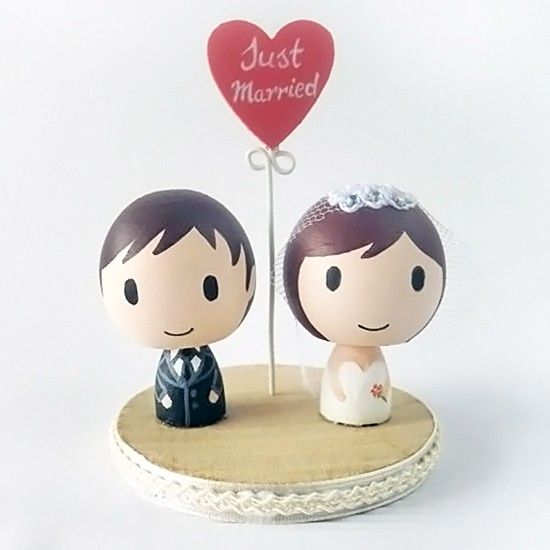 New Product China Supplier Romantic Cartoon Wedding Cake Toppers ...