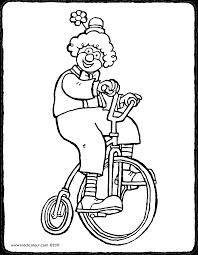 Ein Clown Auf Einem Fahrrad Kiddimalseite Ausmalbilder Ausmalen Malvorlagen