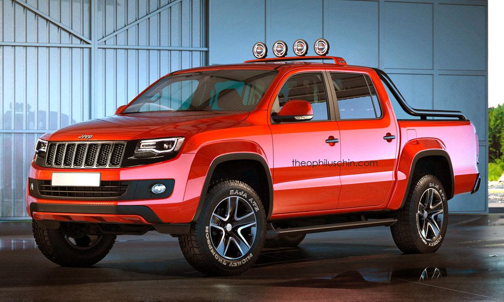Some Jeep Out There Are Keen On Seeing What A New Grand Cherokee Pickup Would Look Like And They Took To Photo Create Such Thing
