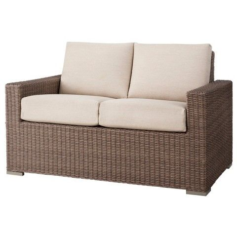 Attractive Heatherstone Wicker Patio Loveseat   Threshold™