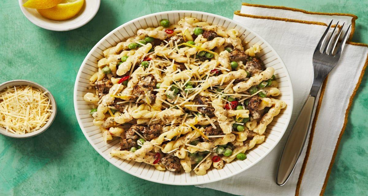 Chicken Sausage Gemelli with Parmesan Recipe Chicken