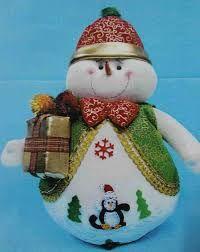 Resultado de imagen para moldes de muñecos de nieve navideños en paño lency