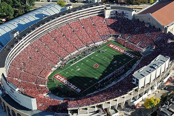 Aerial View Of Camp Randall Stadium Aerial View Aerial Madison