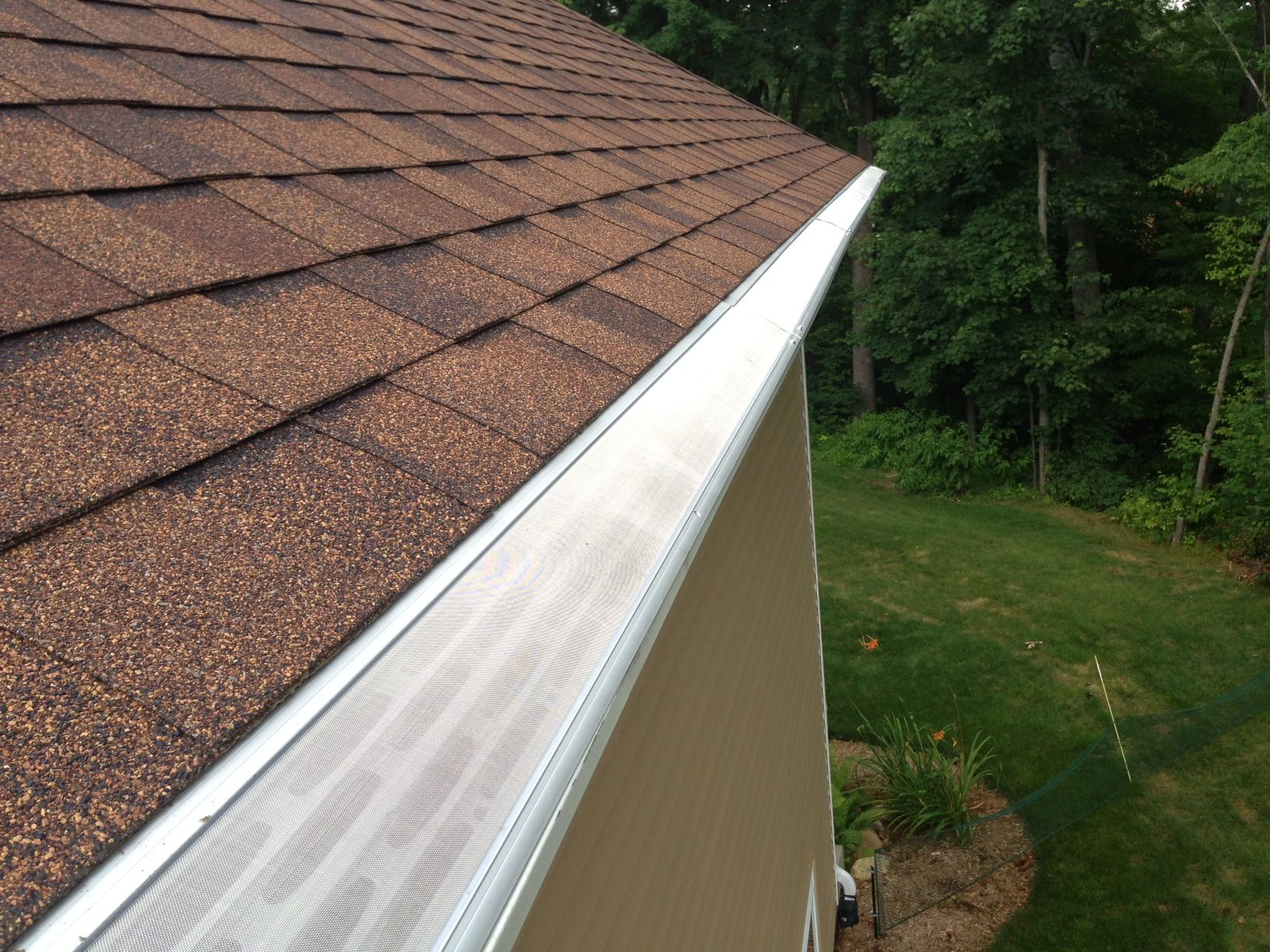 Sweet Installation Of Gutterdome Gd45 Adjustable On A Comp Shingle Roof In The Great State Of Michigan Gutter Guard Cleaning Gutters Clogged Gutter