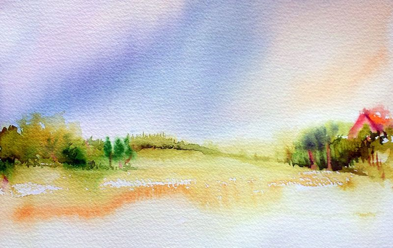 Watercolor Landscapes For Beginners Easy Landscape Watercolor