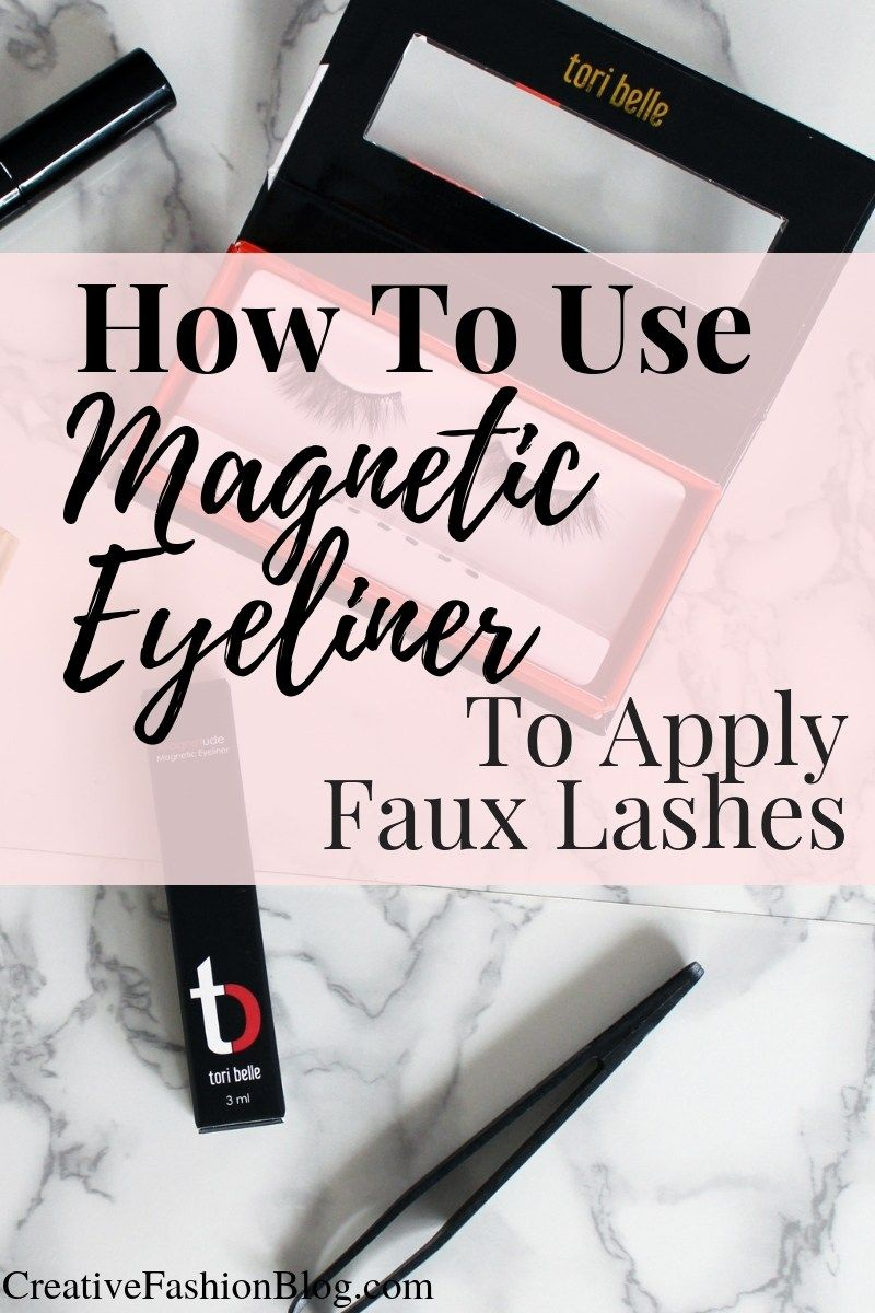 How to apply false lashes with liner