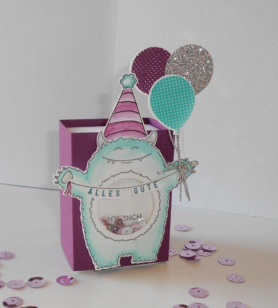Kleine Monsterchen zum Geburtstag – Yummy in my tummy – Kleine Stempelmiez – Basteln aus Liebe