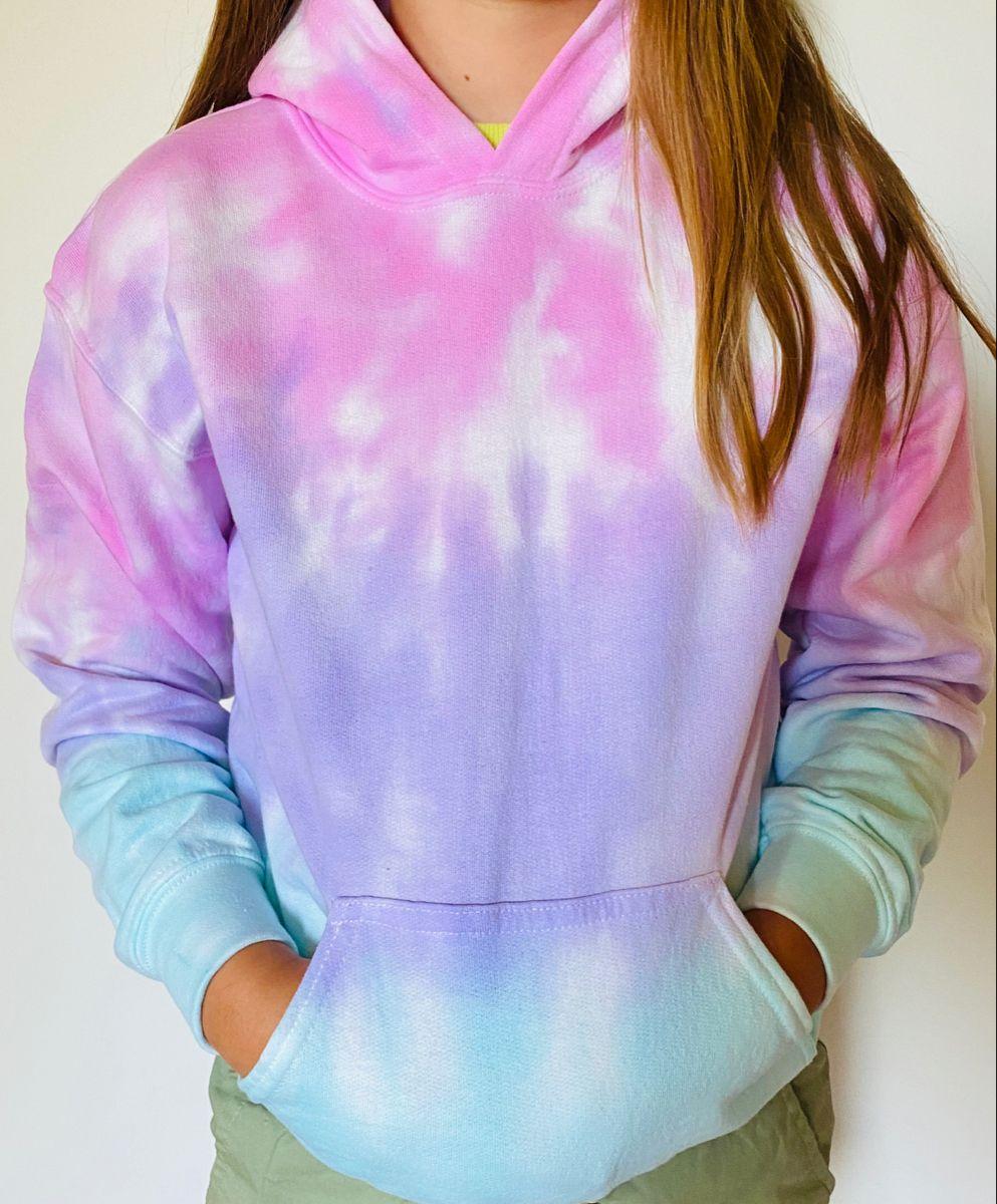 Cotton Candy Kids Unisex Tie Dye Hoodie Etsy Tie Dye Hoodie Tie Dye Outfits Hoodie Fashion [ 1200 x 993 Pixel ]