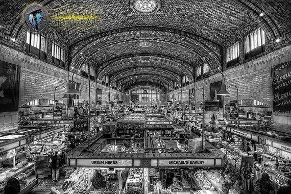 West Side Market Cleveland Ohio Fine Art Black And White