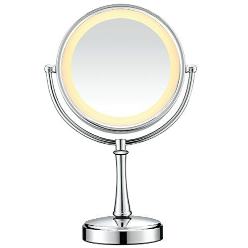 Robot Check Makeup Mirror With Lights, Makeup Mirror Replacement Bulb
